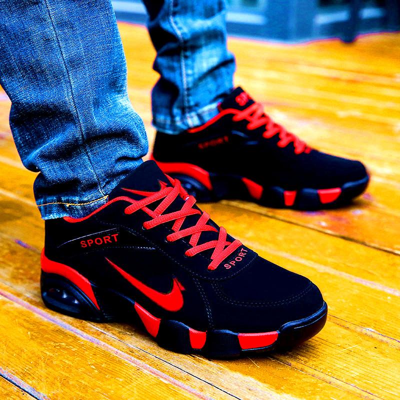 阿玛步行男鞋冬季运动鞋男休闲跑鞋秋季加绒保暖棉鞋皮面跑步鞋子